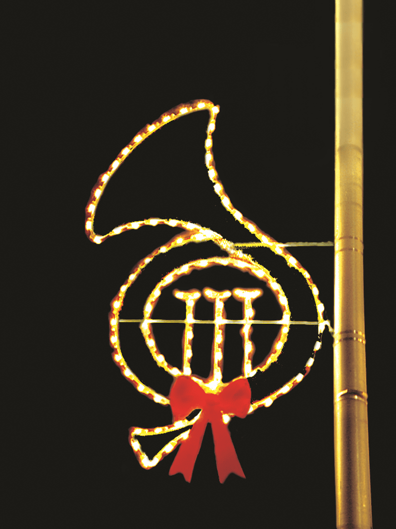 French Horn PMMC-7 Pole Mounted Decor