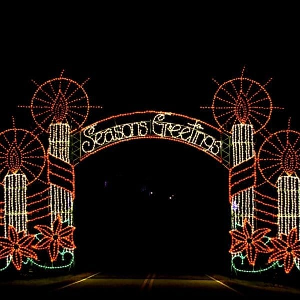 SSLF-306 Seasons Greetings Candle Arch