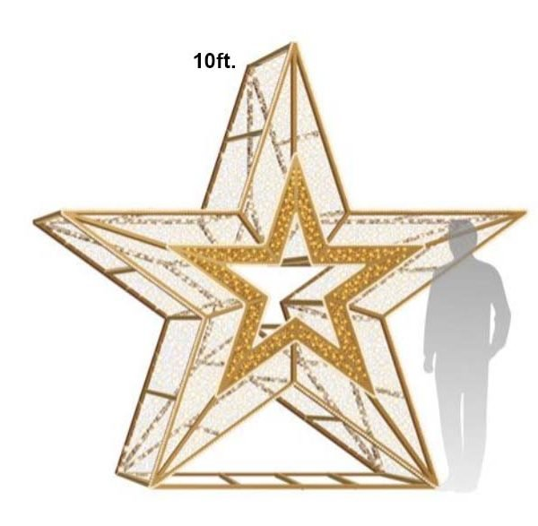 10ft Deluxe Star Icon Photo Op