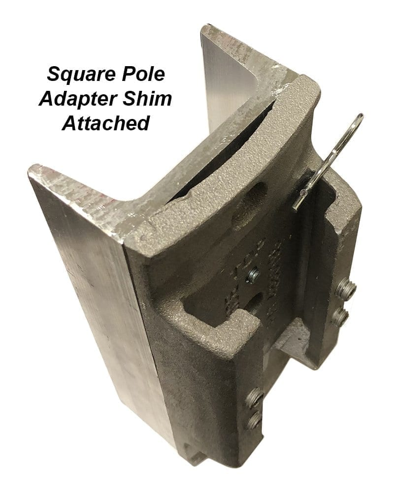square pole adapter labeled