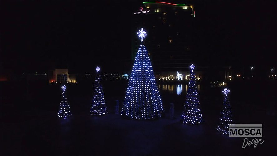 Music Synchronized Holiday Light Show by Mosca Design