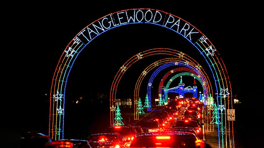 Tanglewood Park Drive Through Holiday Light Show by Mosca Design